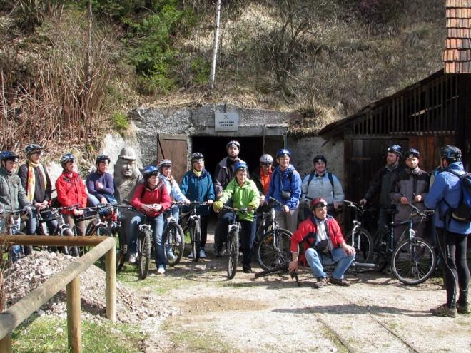 S kolesi v Mežiški rudnik 2008